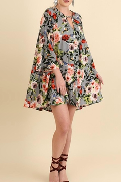 Shoptiques Product: Grey Floral Plus Dress