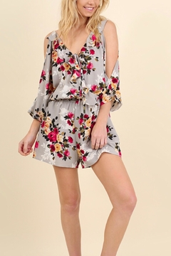 Shoptiques Product: Grey Floral Romper