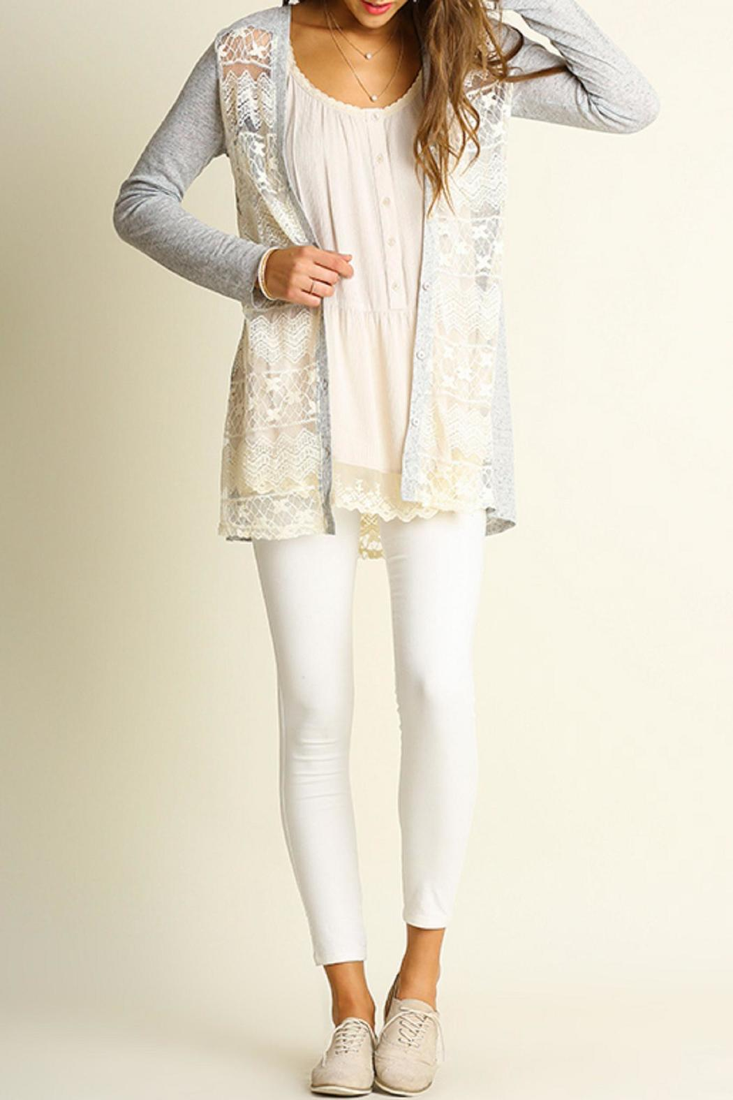 Umgee USA Grey Lace Cardigan from Kansas by Bella Rose Boutique ...
