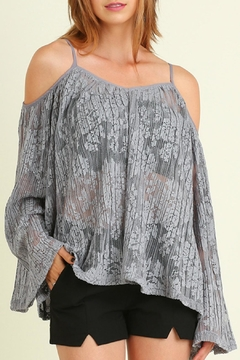 Shoptiques Product: Grey Laced Top