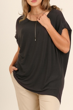 Shoptiques Product: Grey Silky Top
