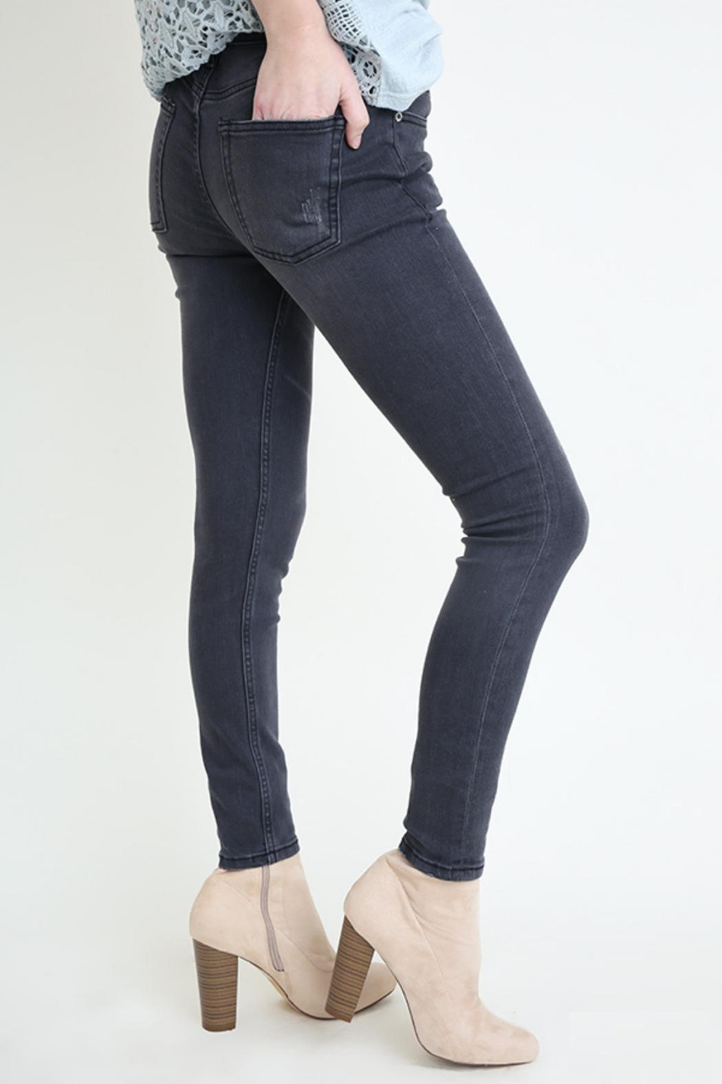 Umgee USA Grey Skinny Jean - Front Full Image