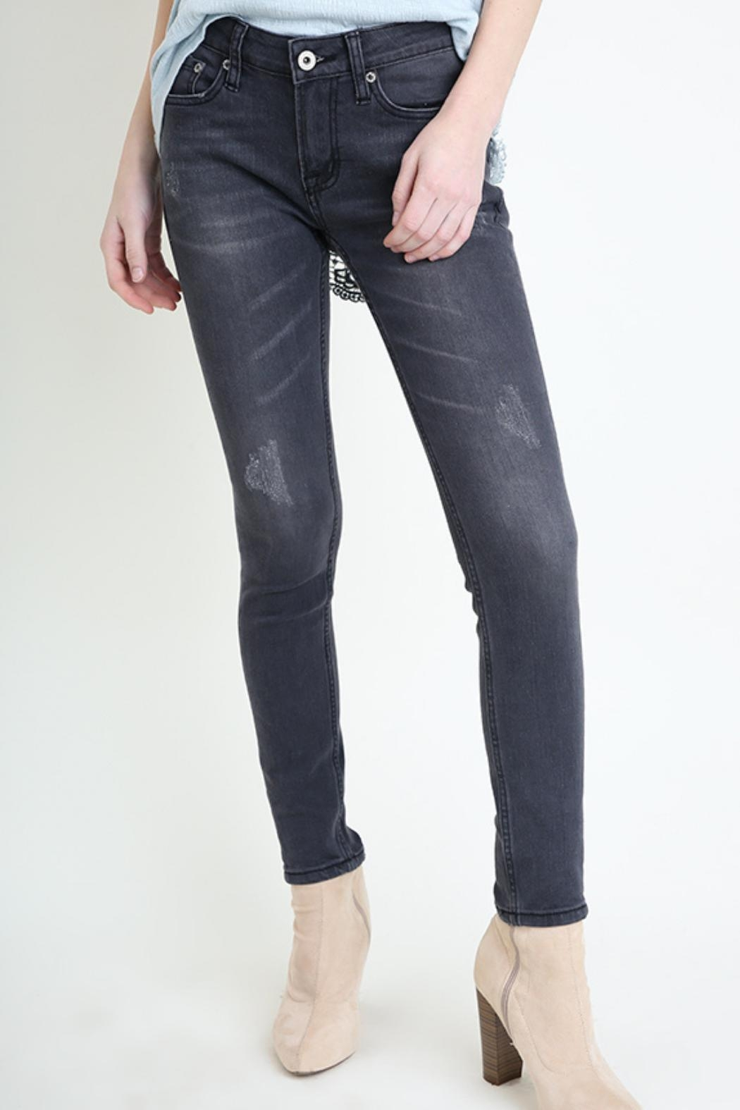 Umgee USA Grey Skinny Jean - Front Cropped Image