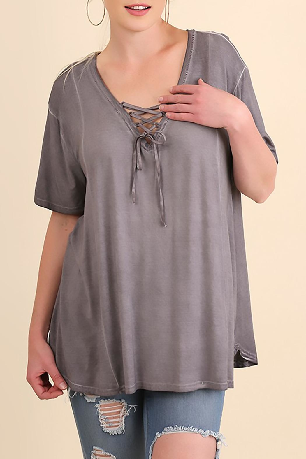 Umgee USA Grey Swing Top - Front Cropped Image
