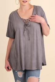 Umgee USA Grey Swing Top - Front cropped