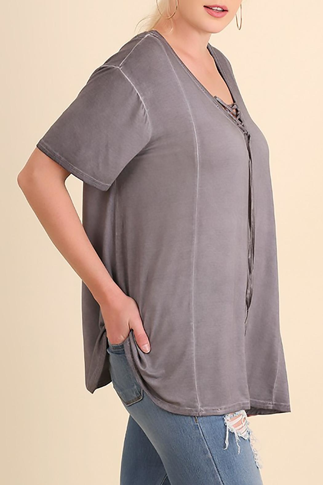 Umgee USA Grey Swing Top - Front Full Image