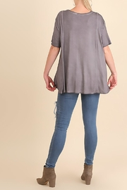 Umgee USA Grey Swing Top - Side cropped