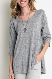 Umgee USA Grey Tunic Top - Front cropped
