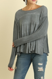 Umgee USA Grey Washed Top - Front cropped