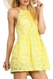 Umgee USA Halter Neckline Tunic Dress - Front cropped
