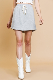 Umgee USA Heathered Mini Skirt - Front cropped