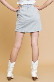 Umgee USA Heathered Mini Skirt - Side cropped