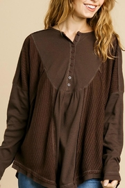 Umgee USA Henley Brown Thermal - Front full body