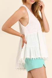 Umgee USA High Low Tunic Top - Front full body