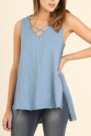 Umgee USA High Low Sleeveless Top - Product Mini Image