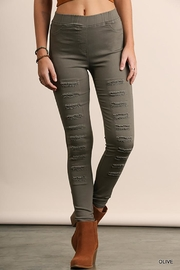 Umgee USA High Waist Distressed Jeggings - Product Mini Image