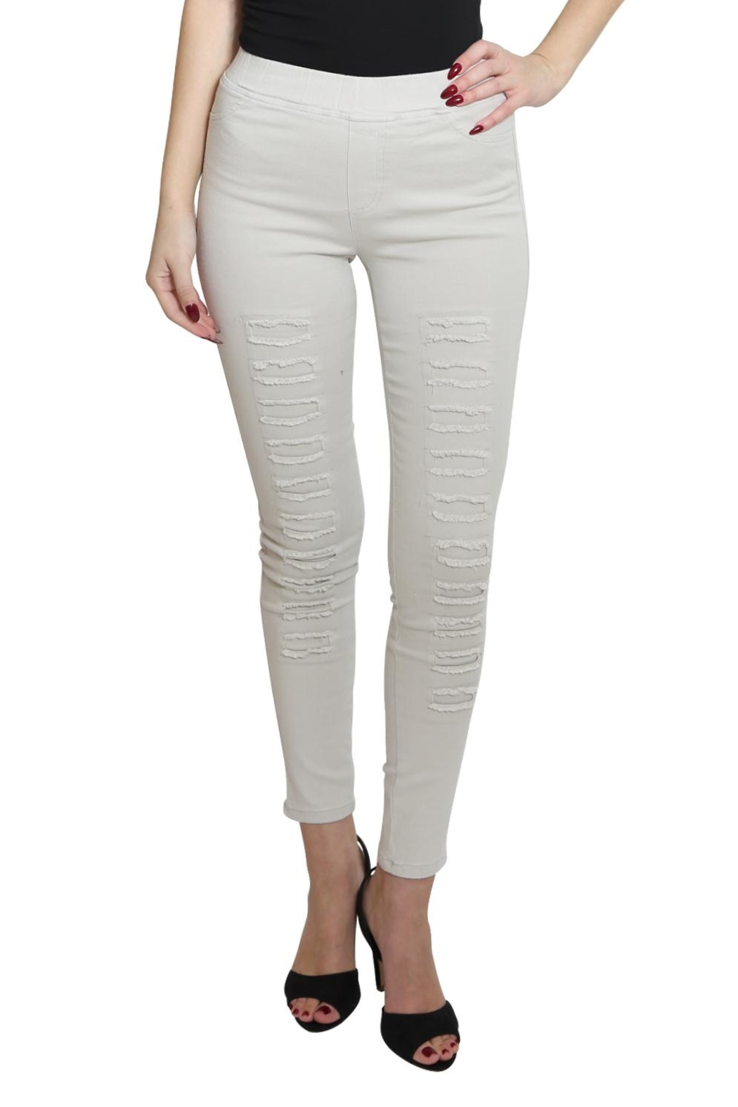 Umgee USA High Waist Jeggings - Front Cropped Image