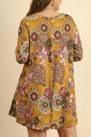 Umgee USA A-Line Print Dress - Front full body
