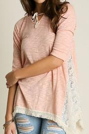 Umgee USA Hooded Lace Top - Product Mini Image
