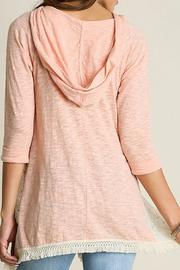 Umgee USA Hooded Lace Top - Front full body