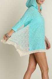 Umgee USA Hooded Lace Top - Back cropped
