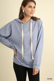 Umgee USA Hoodie d-String Top - Product Mini Image