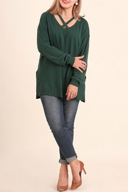 Umgee USA Hunter Green Top - Front cropped