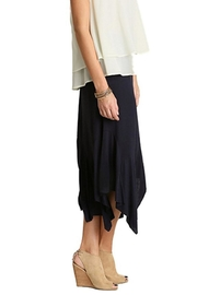Umgee USA Jersey-Knit Handkerchief Skirt - Front cropped