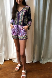 Umgee USA Jeweltone Print Romper - Product Mini Image