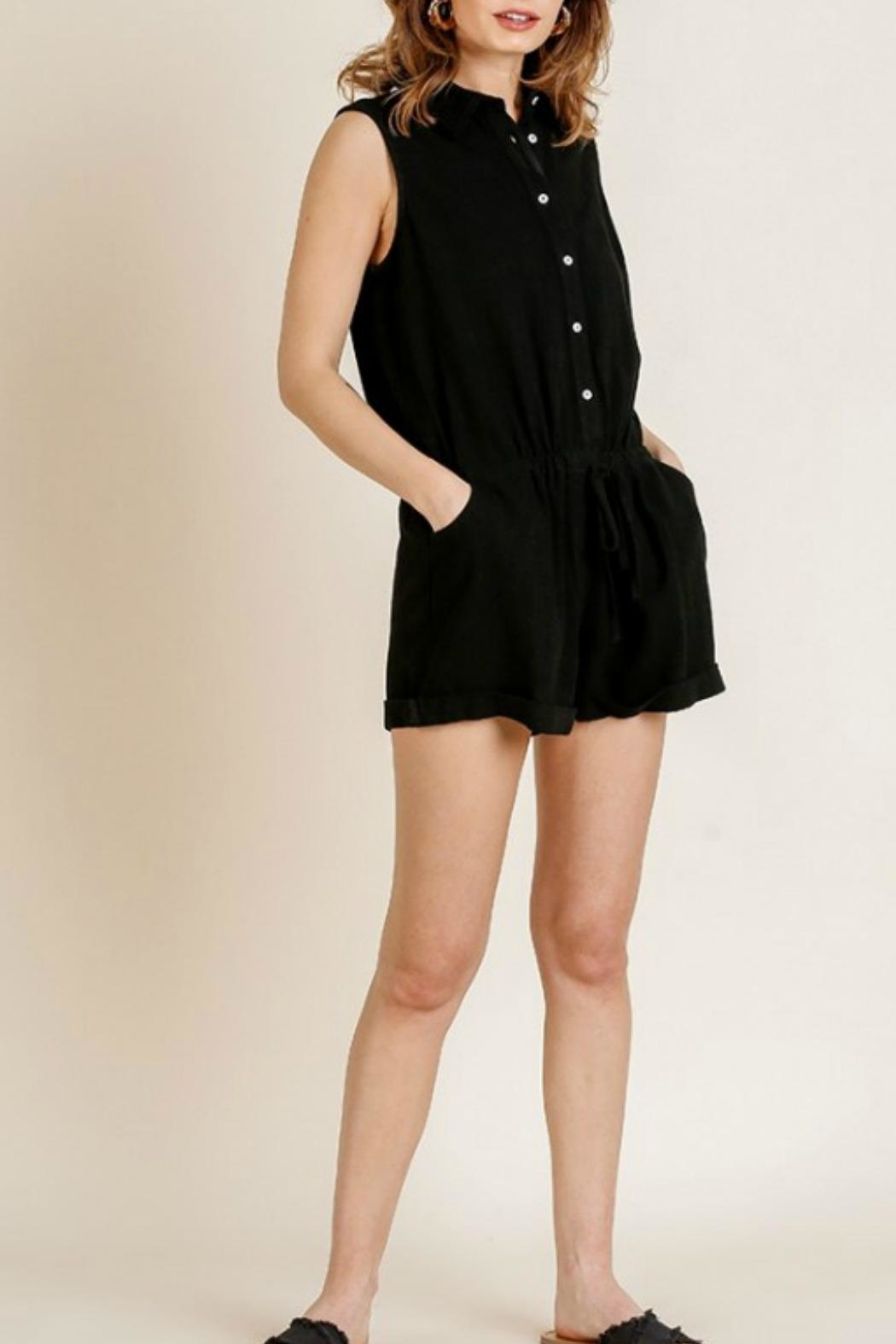 Umgee USA Joelle Utility Romper - Front Cropped Image