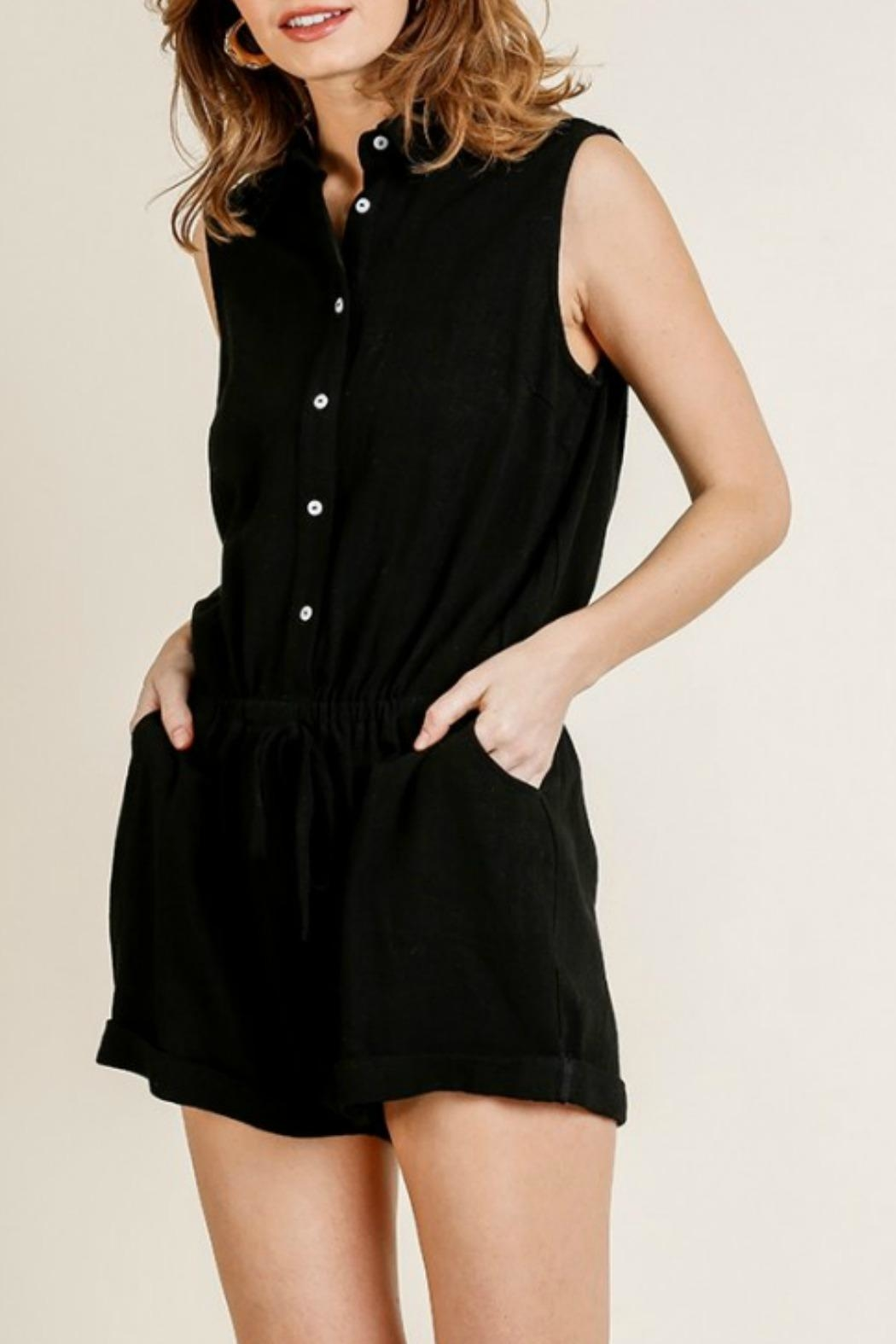 Umgee USA Joelle Utility Romper - Front Full Image