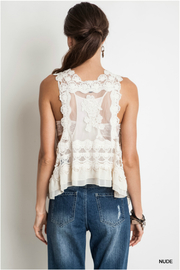 Umgee USA Knit Crochet Vest - Back cropped