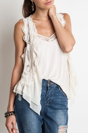 Umgee USA Knit Crochet Vest - Front cropped