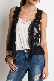 Umgee USA Knit Crochet Vest - Product Mini Image