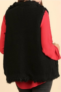 Umgee USA Knit-Faux-Fur Sweater Vest - Alternate List Image