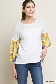 Umgee USA Knit Puff-Sleeve Top - Front cropped