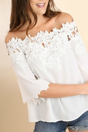 Umgee USA Lace Applique Off-Shoulder - Product Mini Image