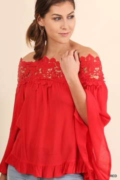Umgee USA Lace Bell-Sleeve Blouse - Product List Image