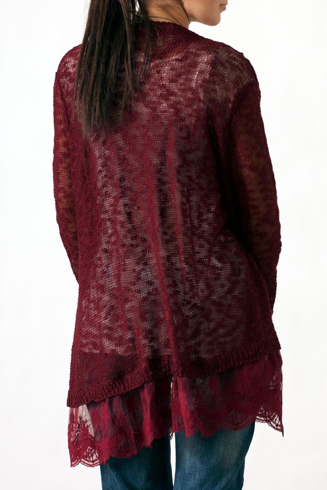 Umgee USA Lace Bottom Cardigan from Philadelphia by May 23 ...