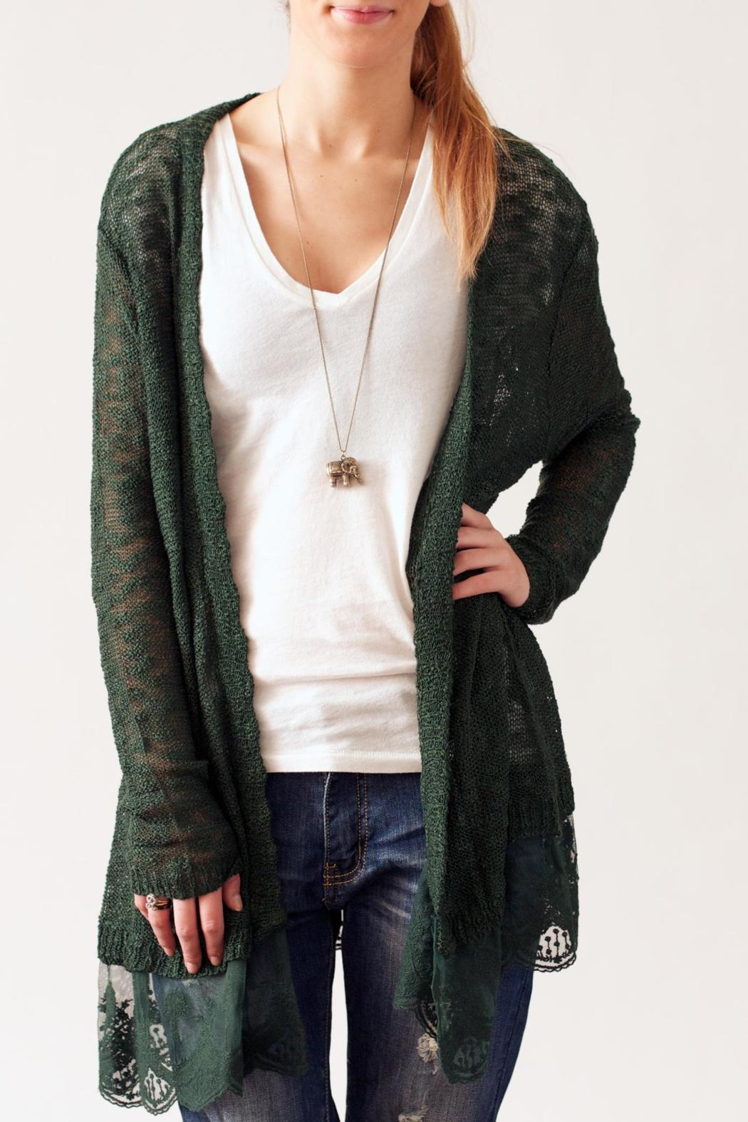 Cardigans And Necklaces: Umgee USA Lace Bottom Cardigan From Philadelphia By May 23