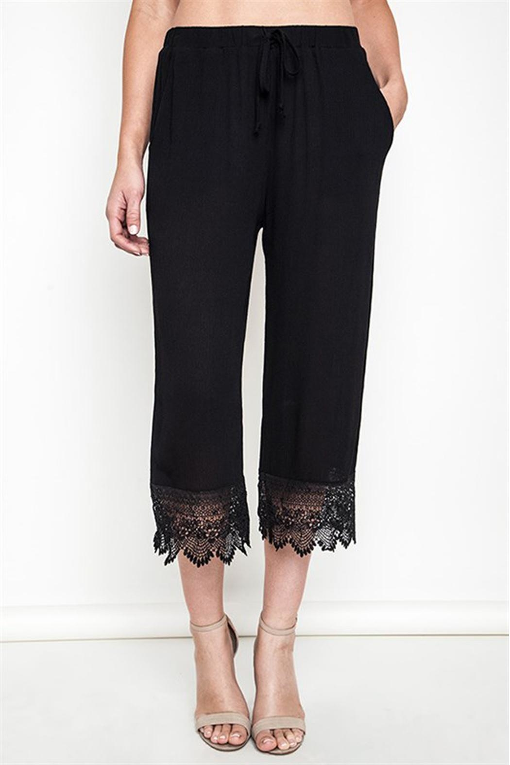 Umgee USA Lace Capri Pants - Front Cropped Image