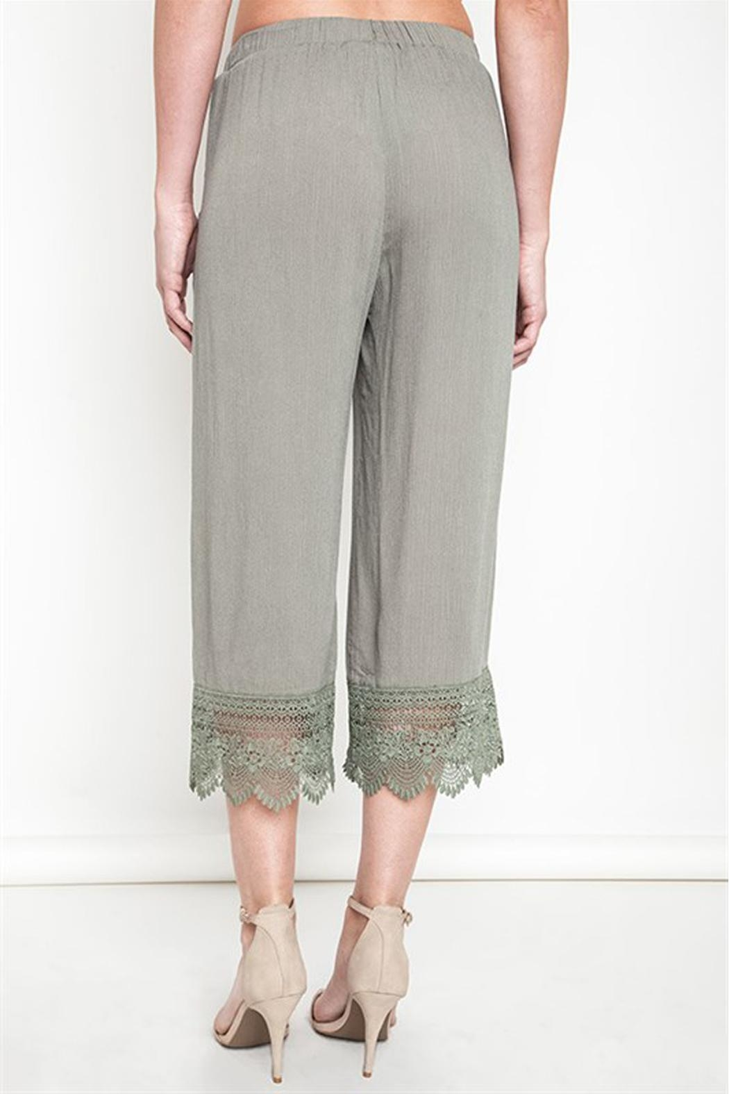 Umgee USA Lace Capri Pants - Front Full Image