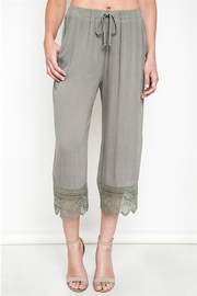 Umgee USA Lace Capri Pants - Front cropped