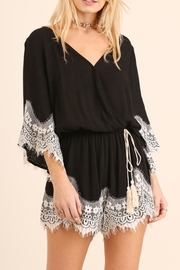 Umgee USA Lace Detail Romper - Product Mini Image