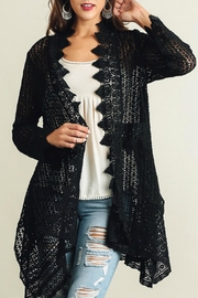 Umgee USA Lace Detailed Cardigan - Front cropped