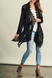 Umgee USA Lace Detailed Cardigan - Front full body