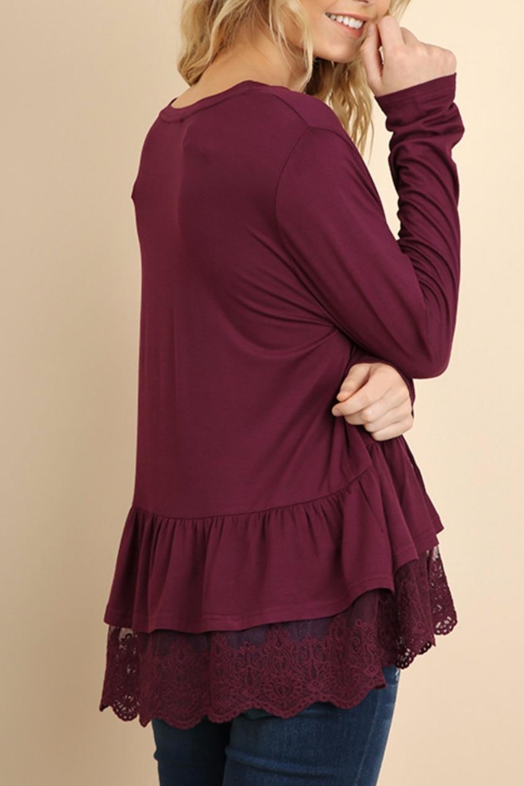 Umgee USA Lace Front Peasant - Front Full Image