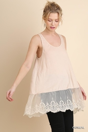 Umgee USA Lace Hemline Tank Top - Product Mini Image