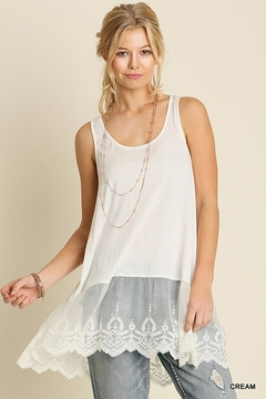 Umgee USA Lace Hemline Tank Top - Product List Image