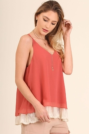 Umgee USA Lace Hemline Top - Front full body
